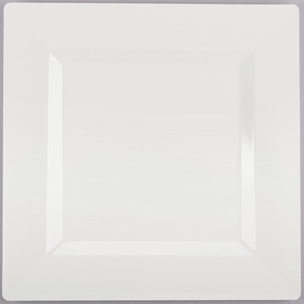 Visions Florence 10 inch Square Bone / Ivory Plastic Plate - 120/Case ...  sc 1 st  WebstaurantStore & Fancy Plastic Plates | Fancy Disposable Plates