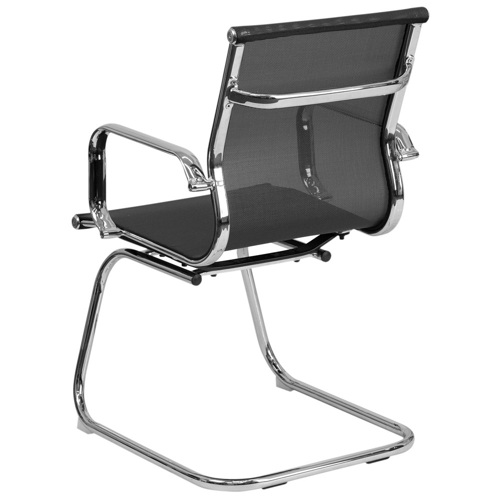 Flash Furniture BT 2768L GG Mid Back Black Mesh Side Chair with