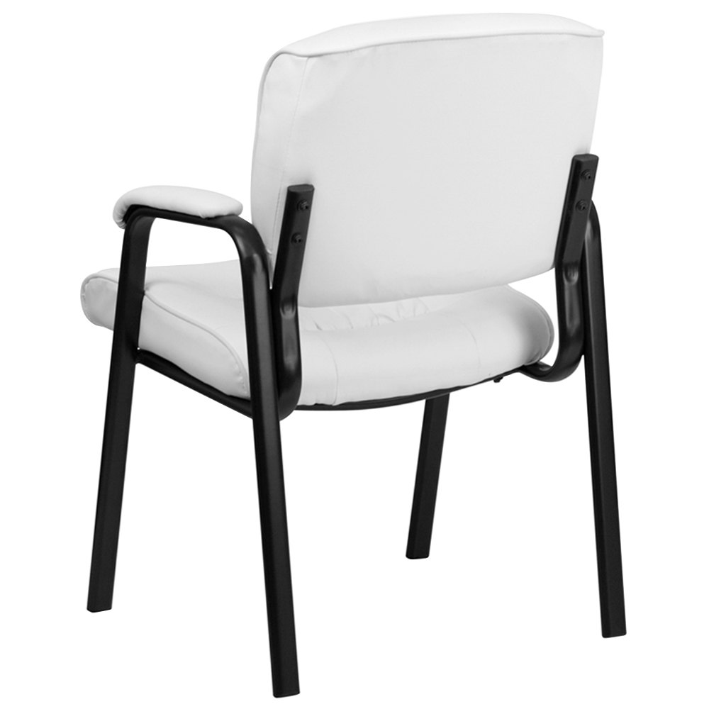 Flash Furniture Bt 1404 Wh Gg White Leather Executive Side