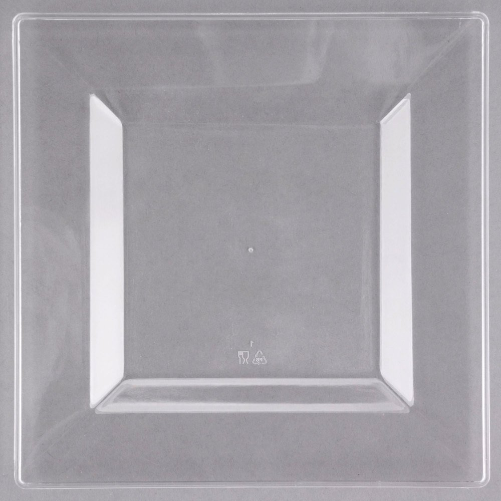 Visions Florence 6 inch Square Clear Plastic Plate - 10/Pack ...  sc 1 st  WebstaurantStore & Clear Square Plastic Plates - WebstaurantStore