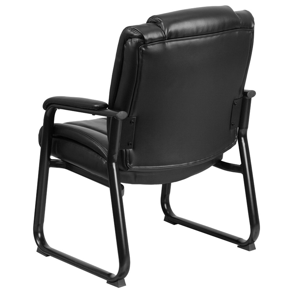 500 lb. Capacity Big & Tall Black Extra Padded Leather ...