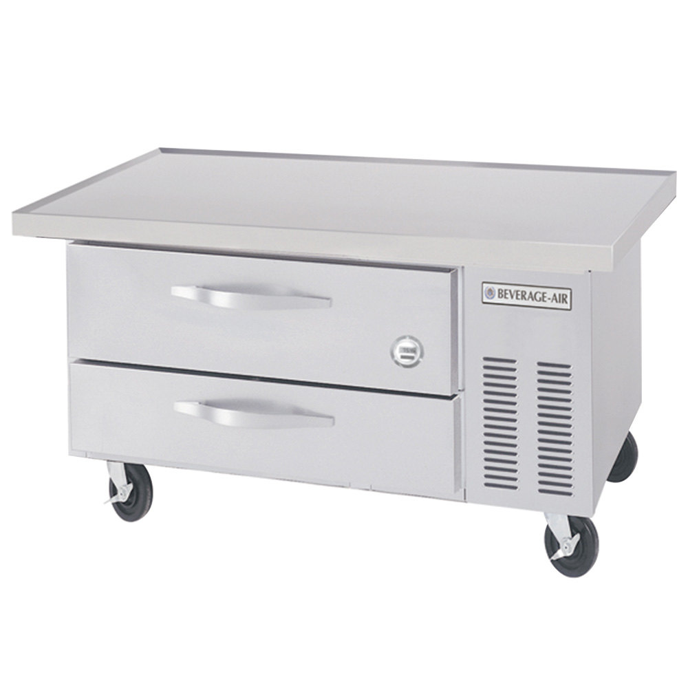 Commercial Chef Bases Webstaurantstore Beverage Air Wiring Diagrams Wtrcs36 1 48 Inch Two Drawer Refrigerated Base