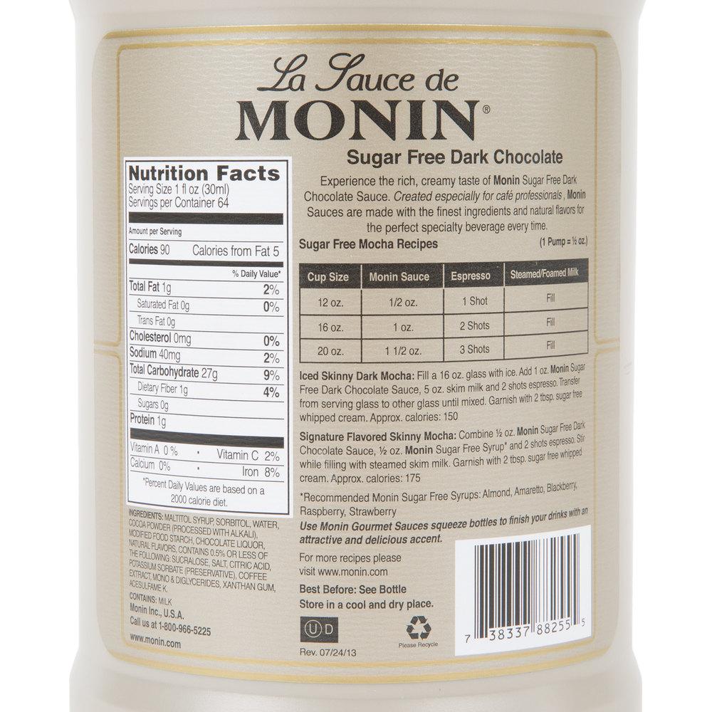 Monin 64 oz. Sugar Free Dark Chocolate Flavoring Sauce