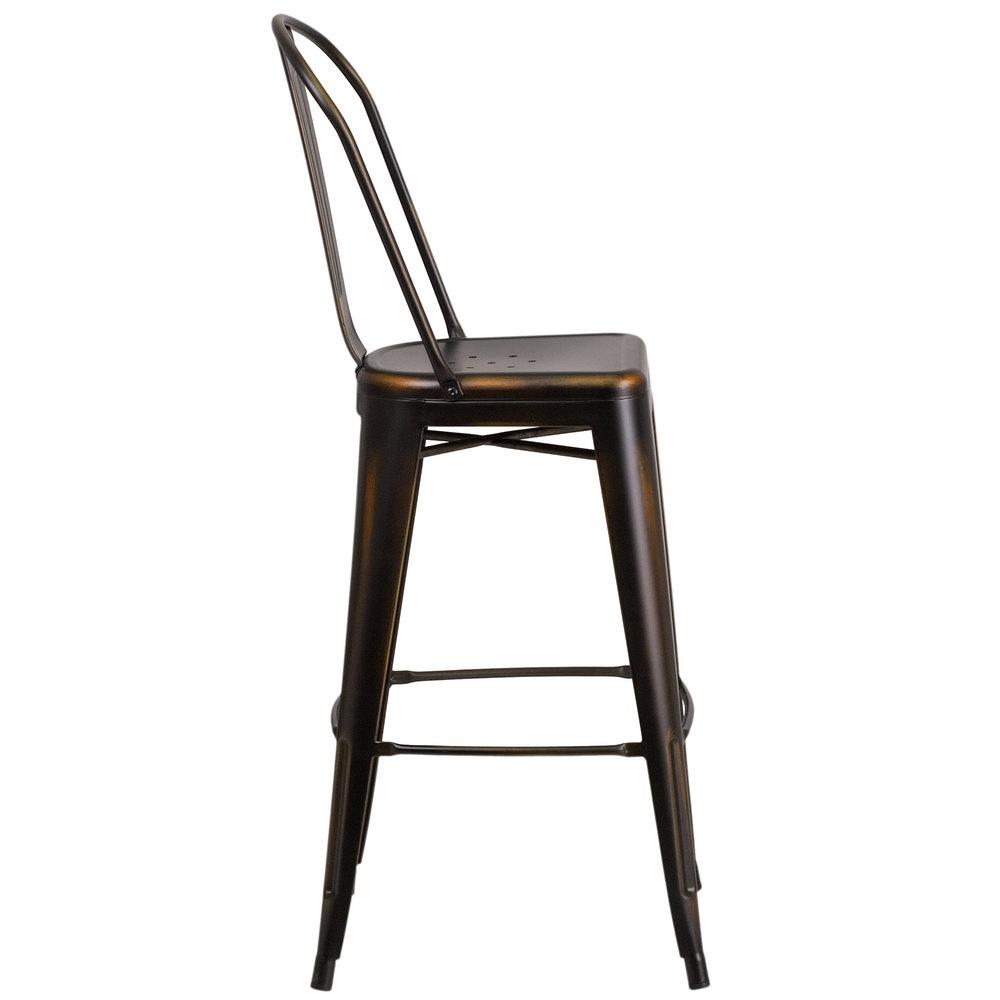 Flash Furniture Et 3534 30 Cop Gg Distressed Copper Metal