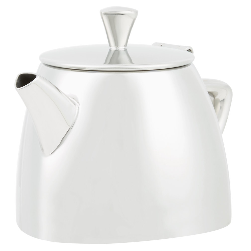 vollrath  triennium  oz mirrorfinished stainless steel teapot - mirrorfinished stainless steel teapot main picture