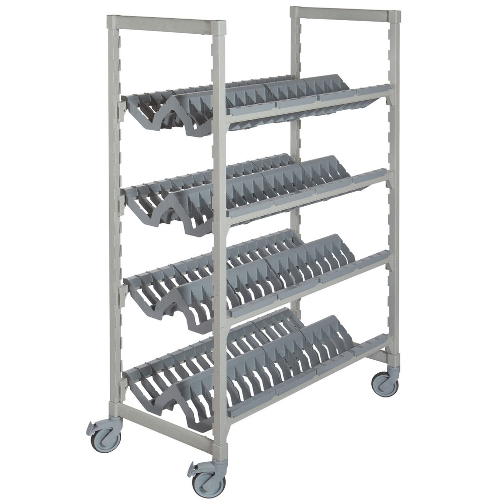 3 advantages of having dish drying rack. Cambro CPMU244875PDPKG Camshelving® Premium Speckled Gray Angled Drying Rack Cart - 24 Inch X 48 3 Advantages Of Having Dish