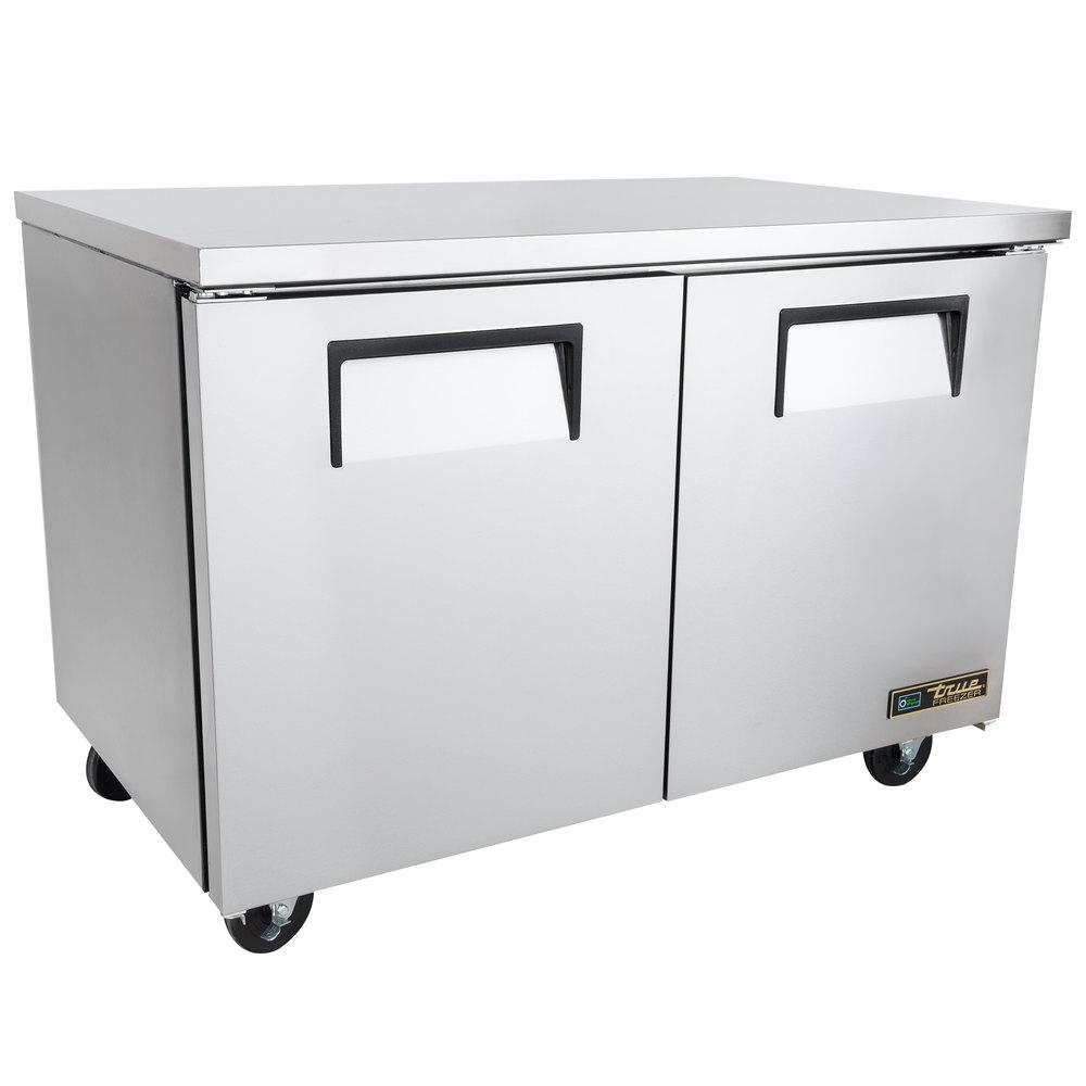 true twt 48f 48 two door worktop freezer. Black Bedroom Furniture Sets. Home Design Ideas