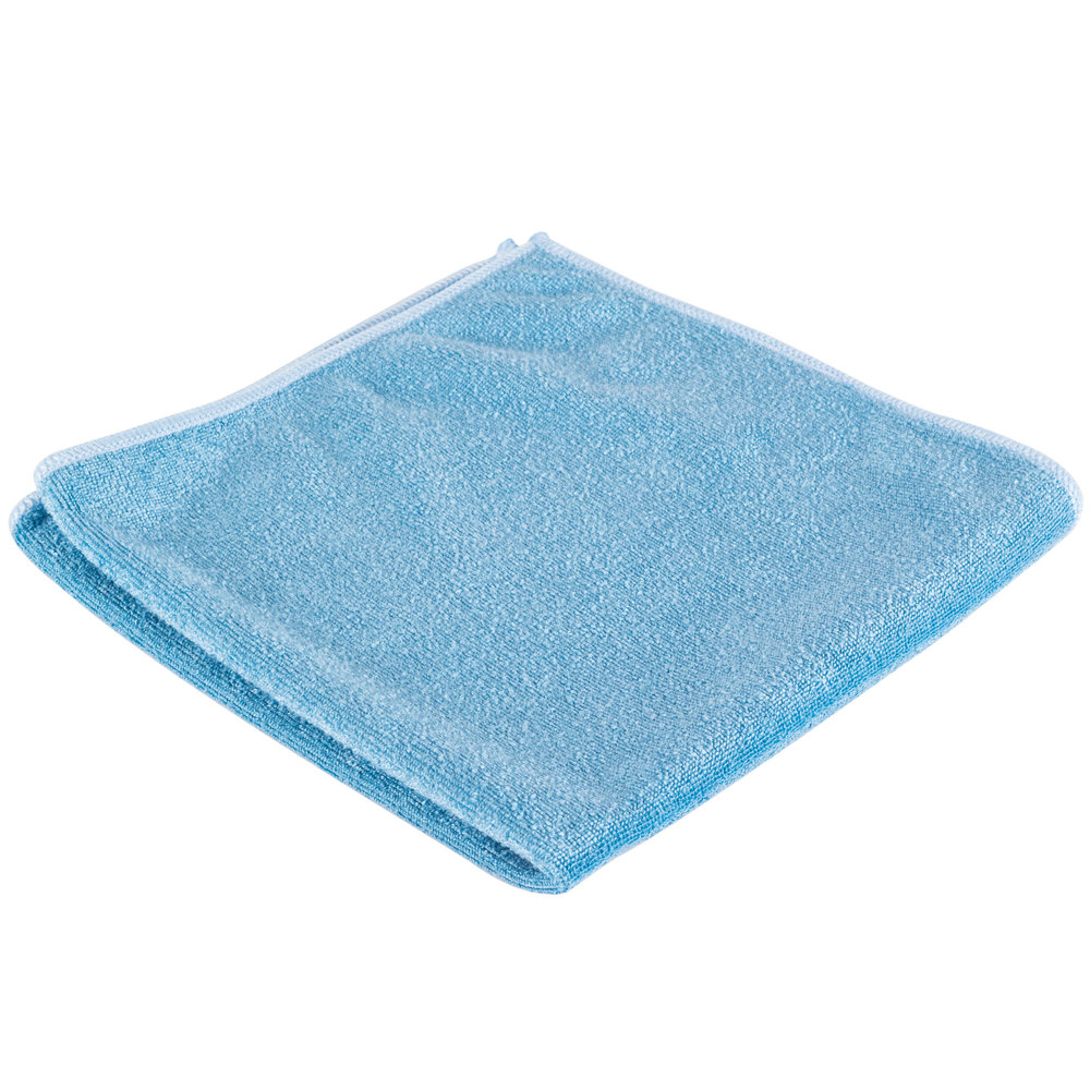 "Microfiber Cloth Guide: Unger MB40B SmartColor MicroWipe 16"" X 16"" Blue Medium"