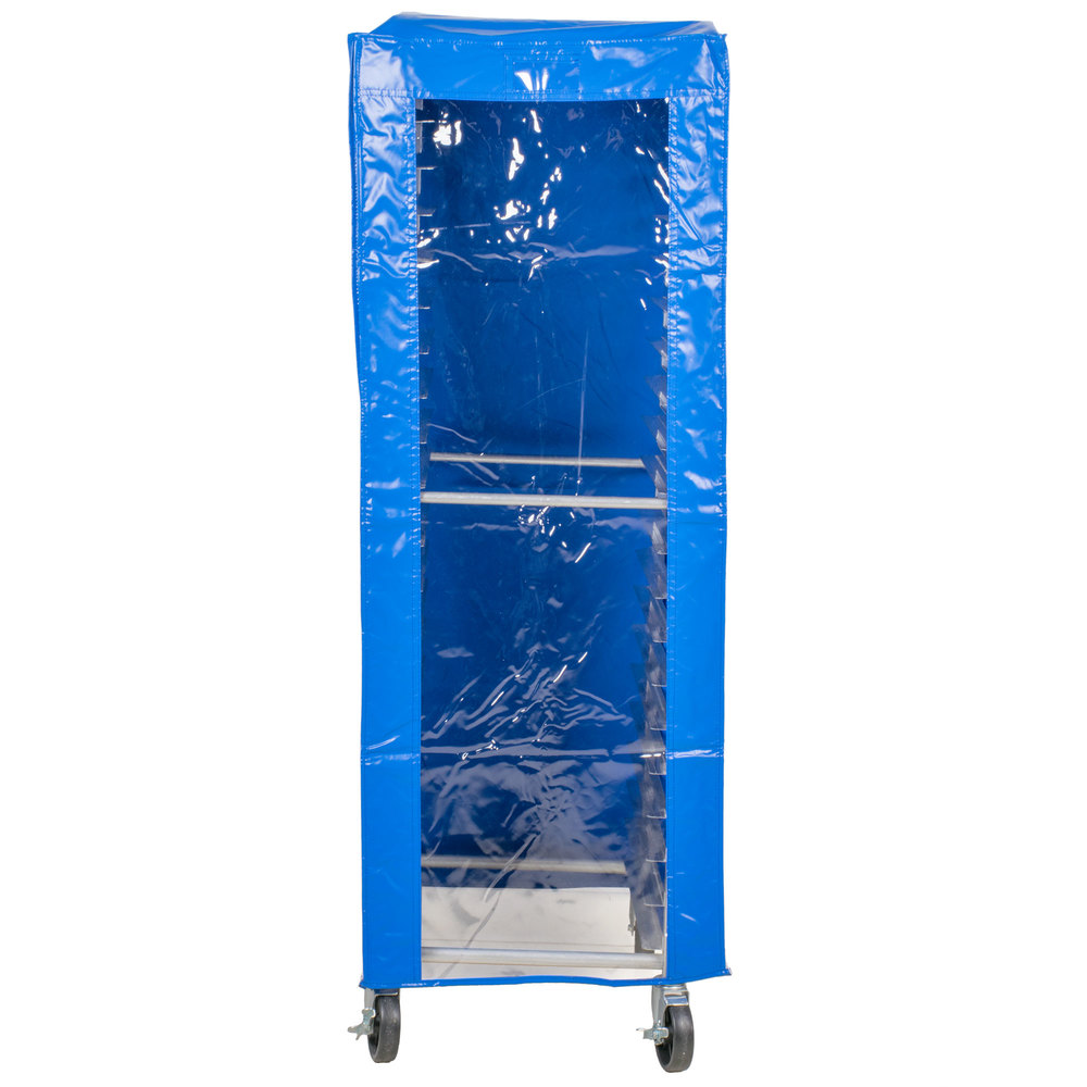 Regency 63 inch Blue 12 Mil Vinyl Bun Pan Rack Freezer Cover