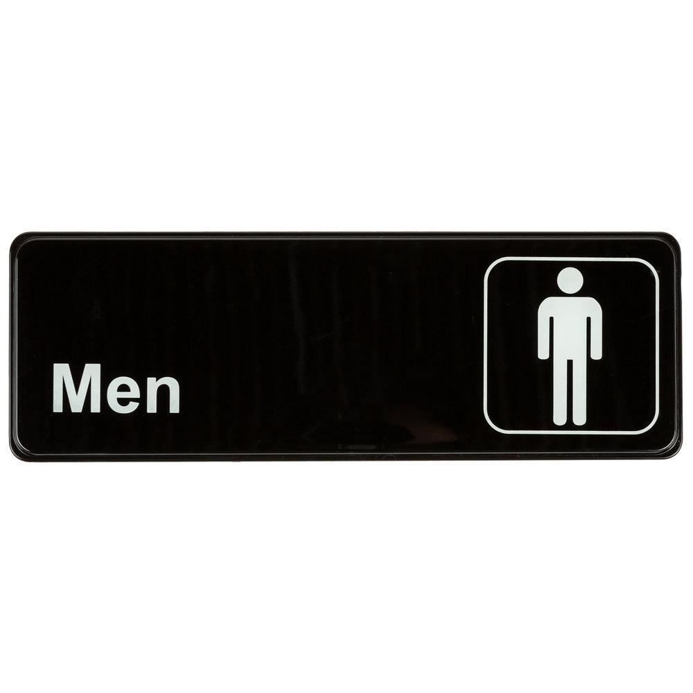 Bathroom Sign With Arrow Menu0027s Restroom