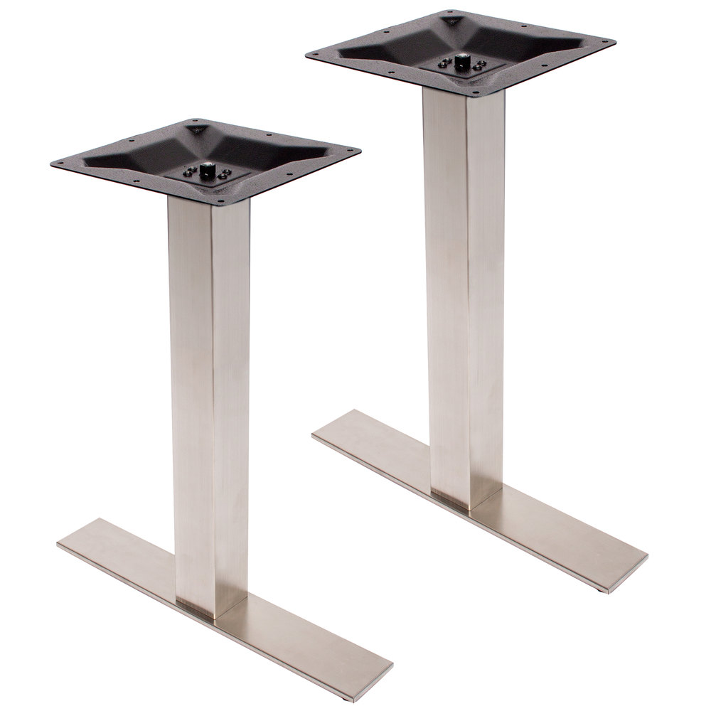 ... Stainless Steel Outdoor / Indoor Standard Height End Table Base Set.  Main Picture