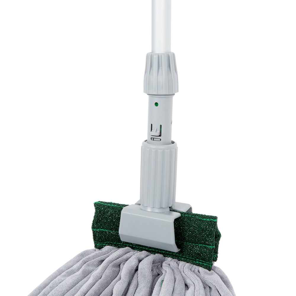 unger smartcolor 16 oz microfiber string mop head kit with mop handle mop holder and cone adapter - Mop Head