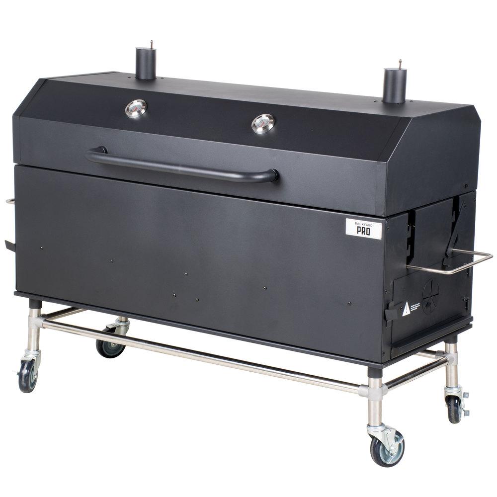 Backyard pro quot charcoal wood smoker assembled