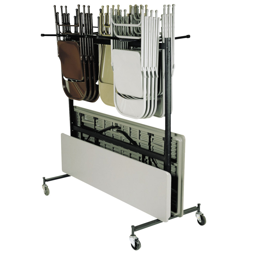 National Public Seating 42 8 60 Folding Chair Table Coat Storage And