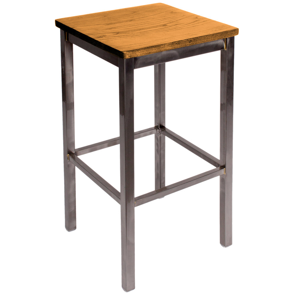 Bfm Seating 2510bntw Cl Trent Clear Coated Steel Bar Stool
