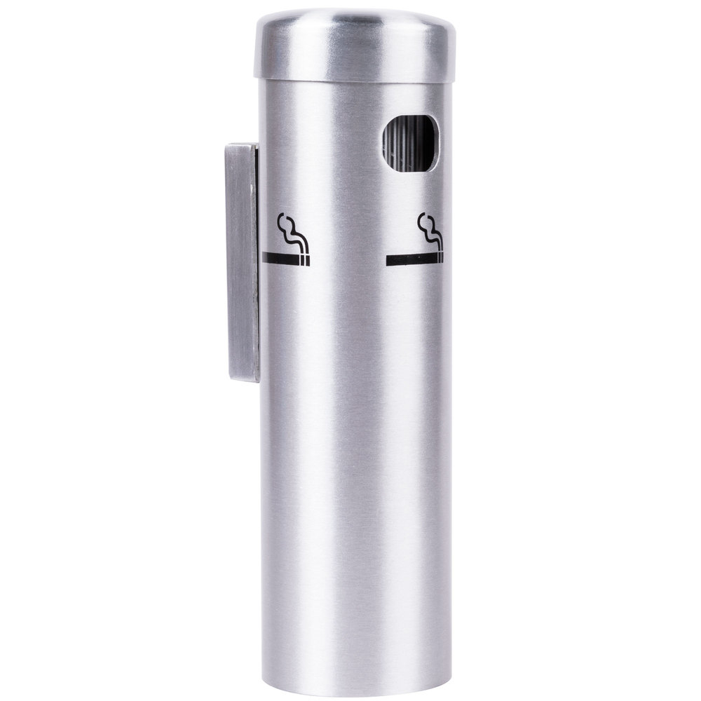 Aarco Satin Wall Mounted Cigarette Ash Receptacle Ss15w
