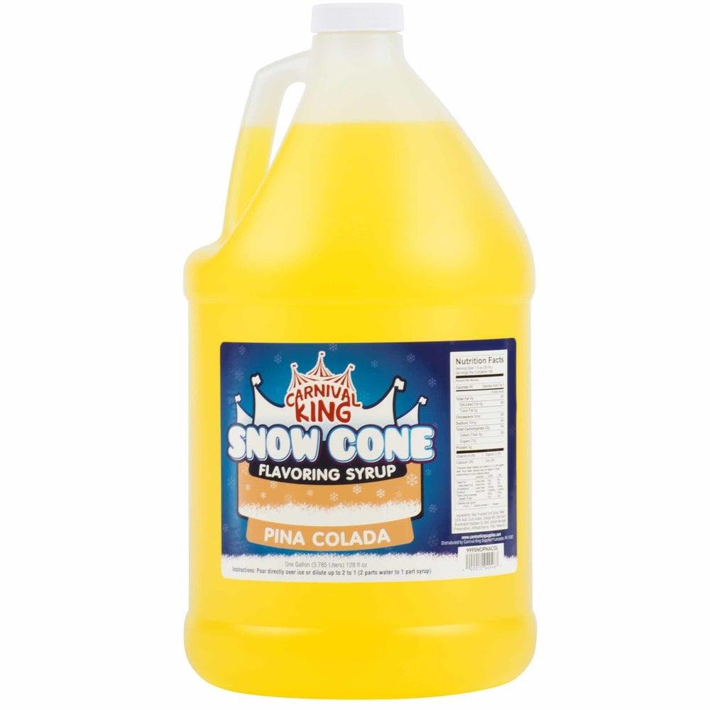 Carnival King 1 Gallon Pina Colada Snow Cone Syrup