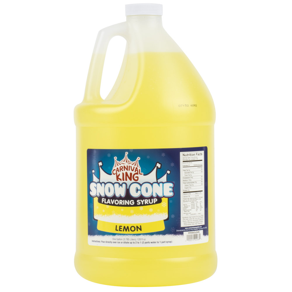 Carnival King 1 Gallon Lemon Snow Cone Syrup