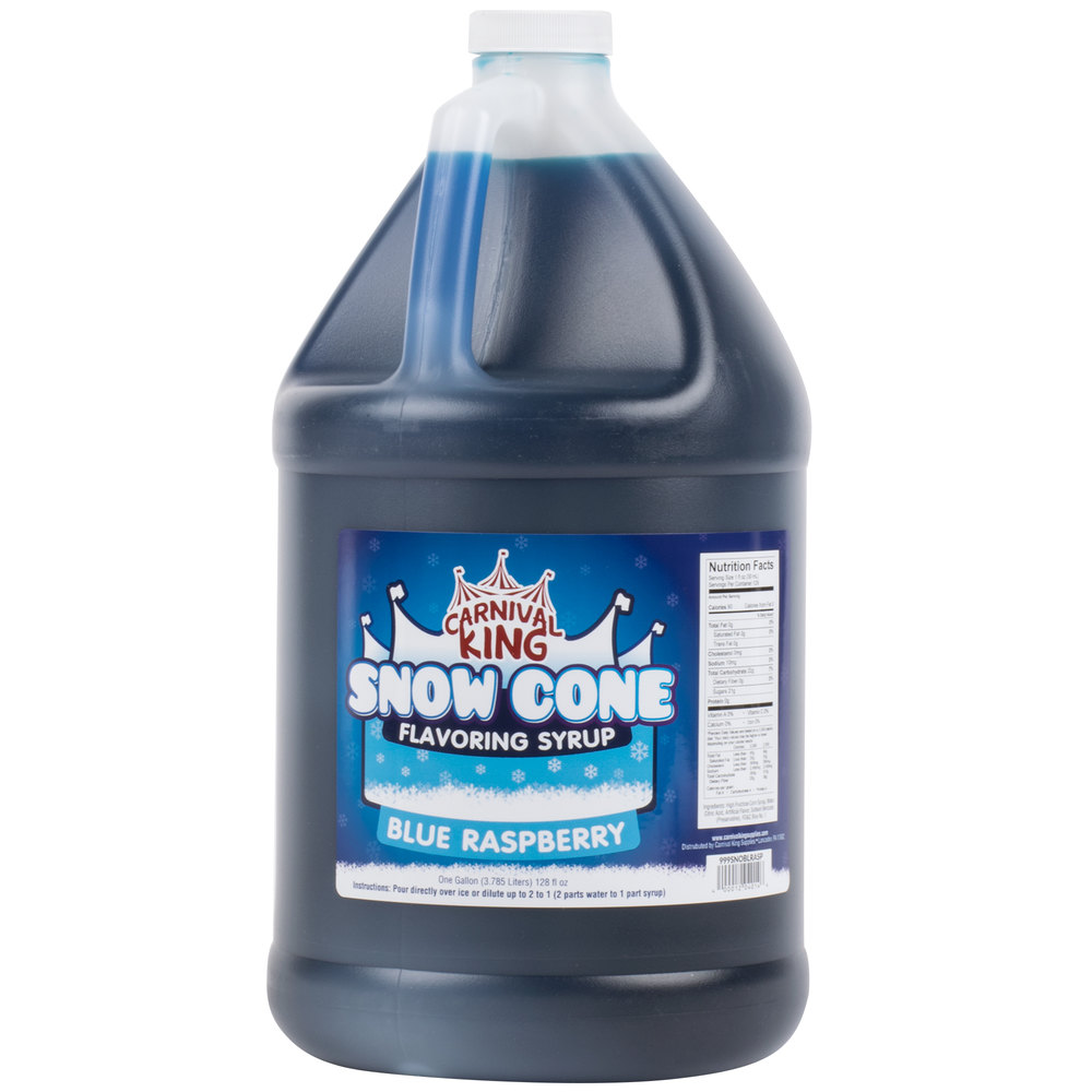 Carnival King 1 Gallon Blue Raspberry Snow Cone Syrup - 4/Case