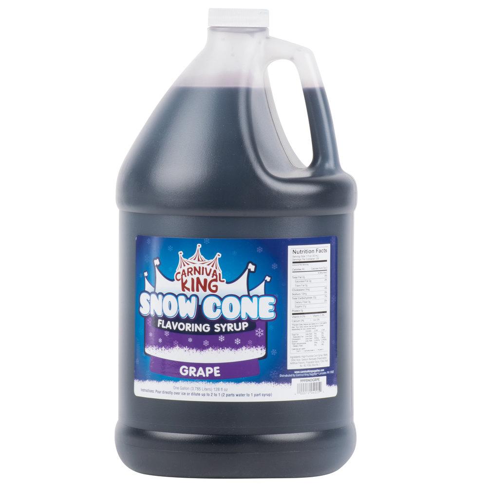 Carnival King 1 Gallon Grape Snow Cone Syrup  - 4/Case