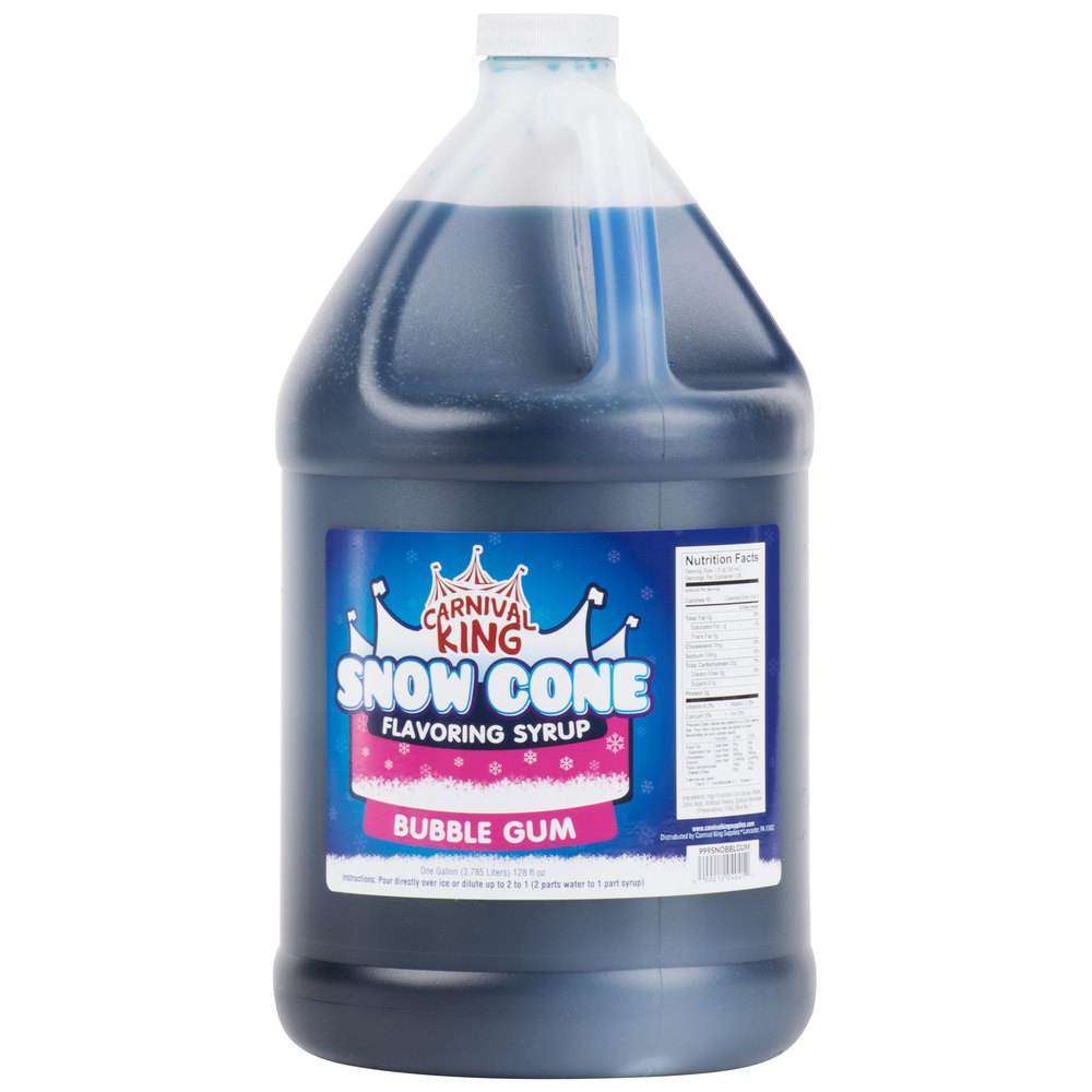 Carnival King 1 Gallon Bubble Gum Snow Cone Syrup - 4/Case