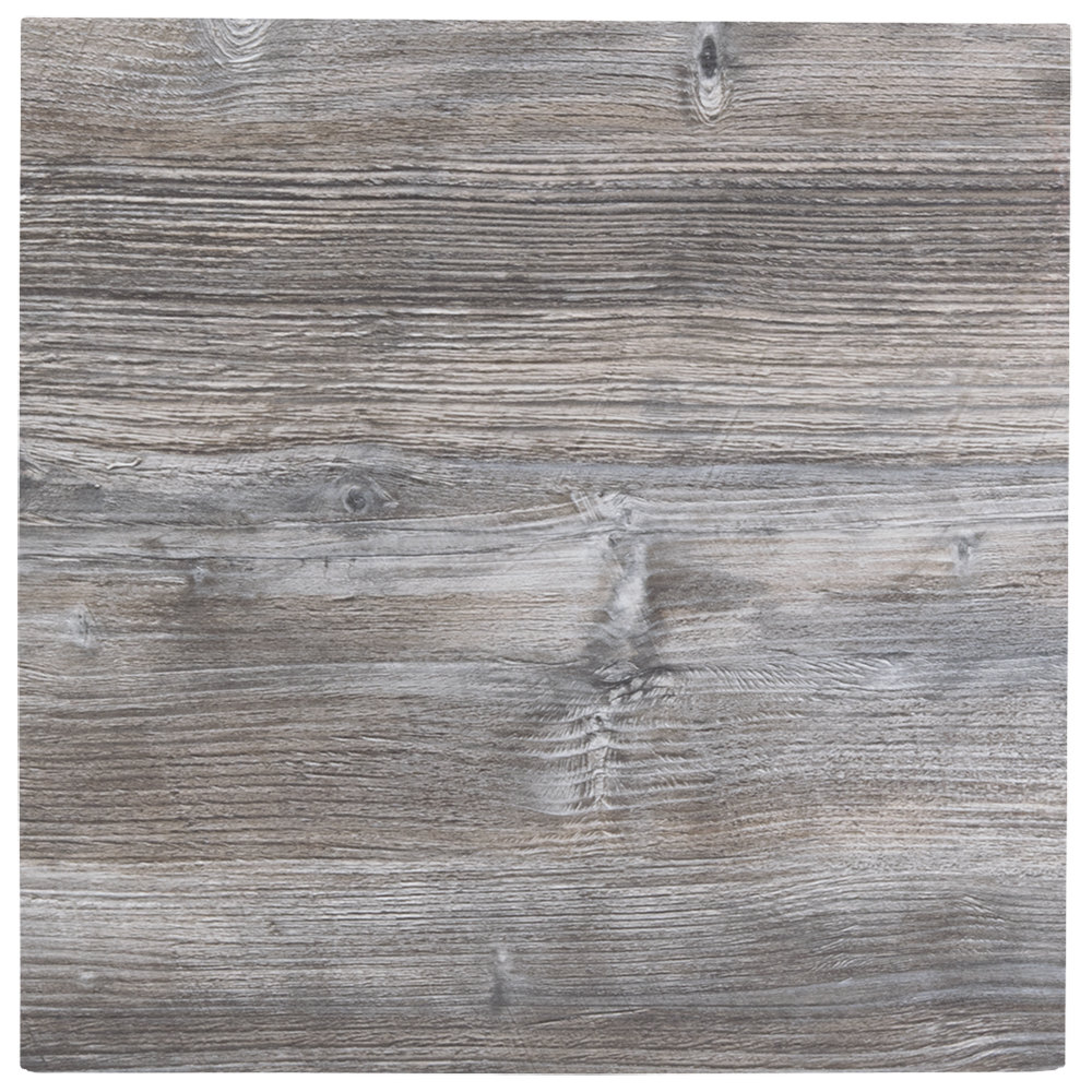 BFM Seating DW2424 Midtown 24 Inch Square Indoor Tabletop   Driftwood