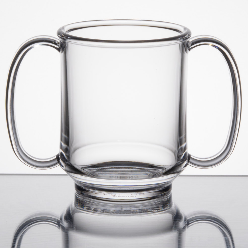Get Sn 103 Cl 8 Oz Clear Tritan Two Handle Mug 24 Case