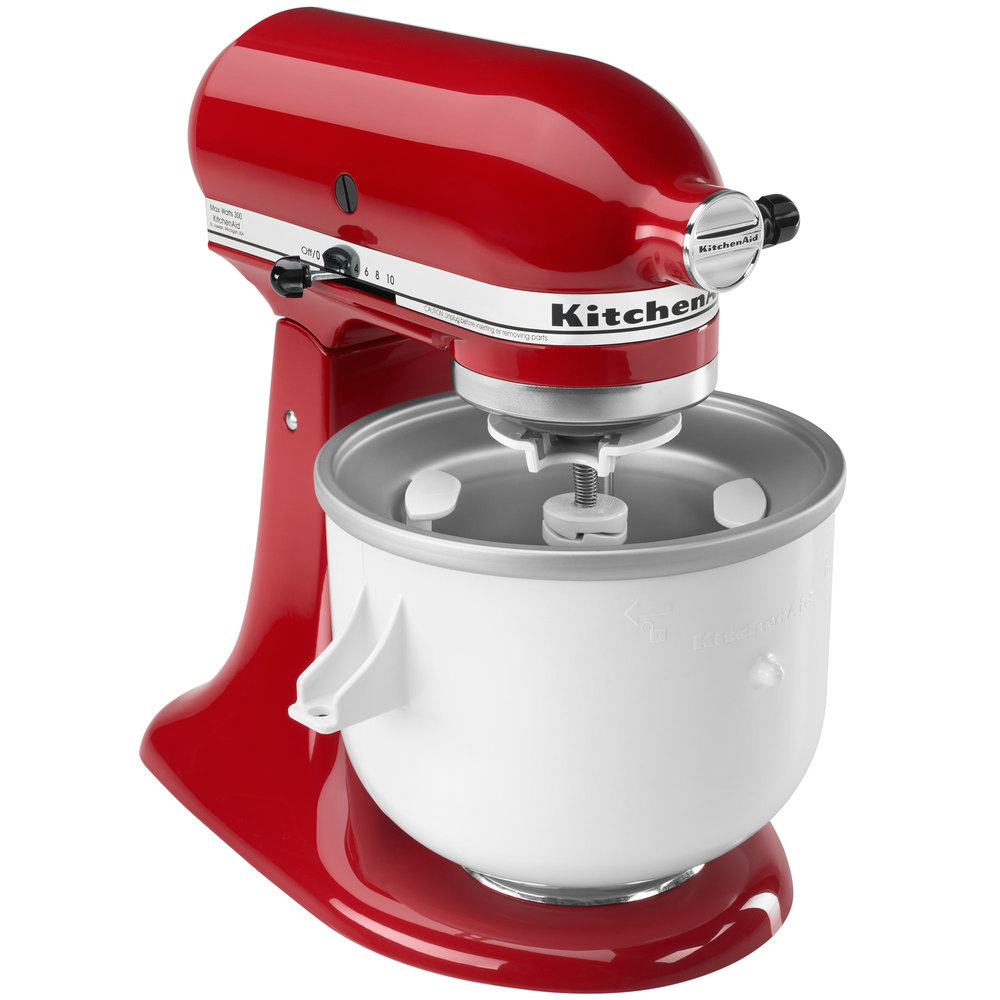 kitchenaid kica0wh ice cream maker attachment for residential kitchenaid stand mixers. Black Bedroom Furniture Sets. Home Design Ideas
