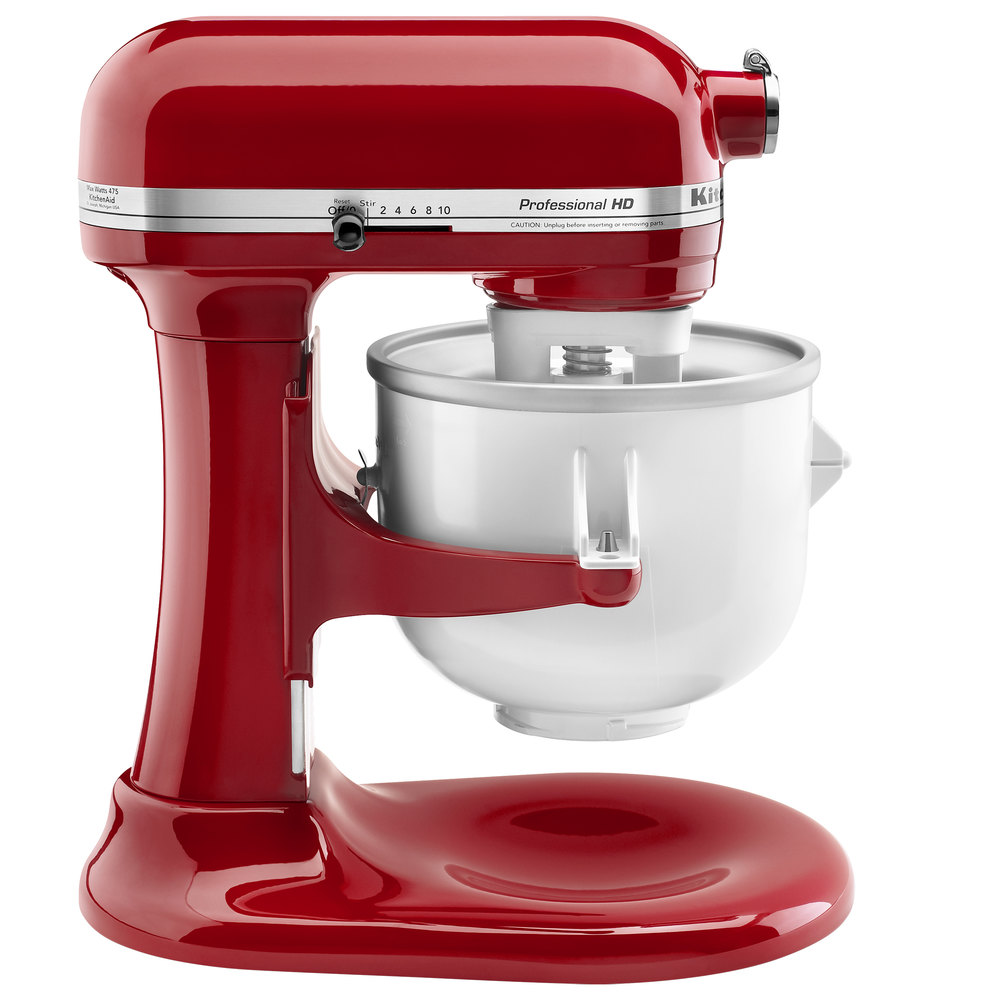 Kitchenaid Kica0wh Ice Cream Maker Attachment For Residential Stand Mixers Main Picture Image Preview
