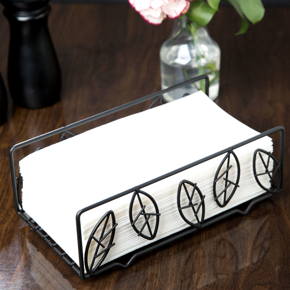 american metalcraft ndsl59 wrought iron leaf guest towel holder