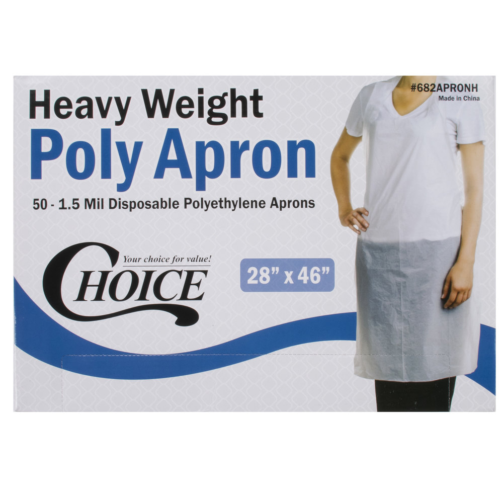 White disposable apron -  Image Preview