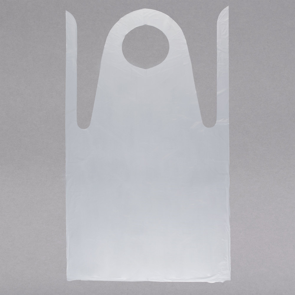 White disposable apron -  Image Preview Image Preview