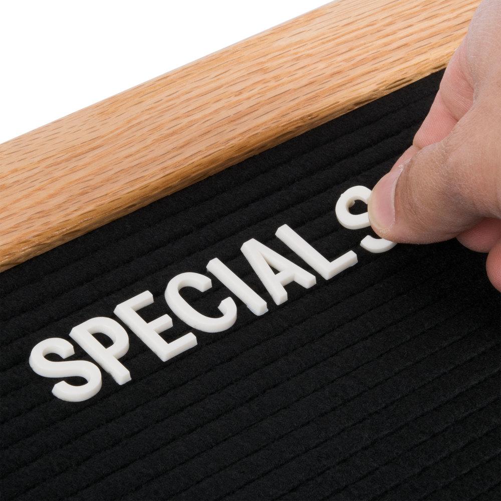 aarco aofd2436l 24 x 36 black felt open face horizontal indoor message board with solid oak. Black Bedroom Furniture Sets. Home Design Ideas