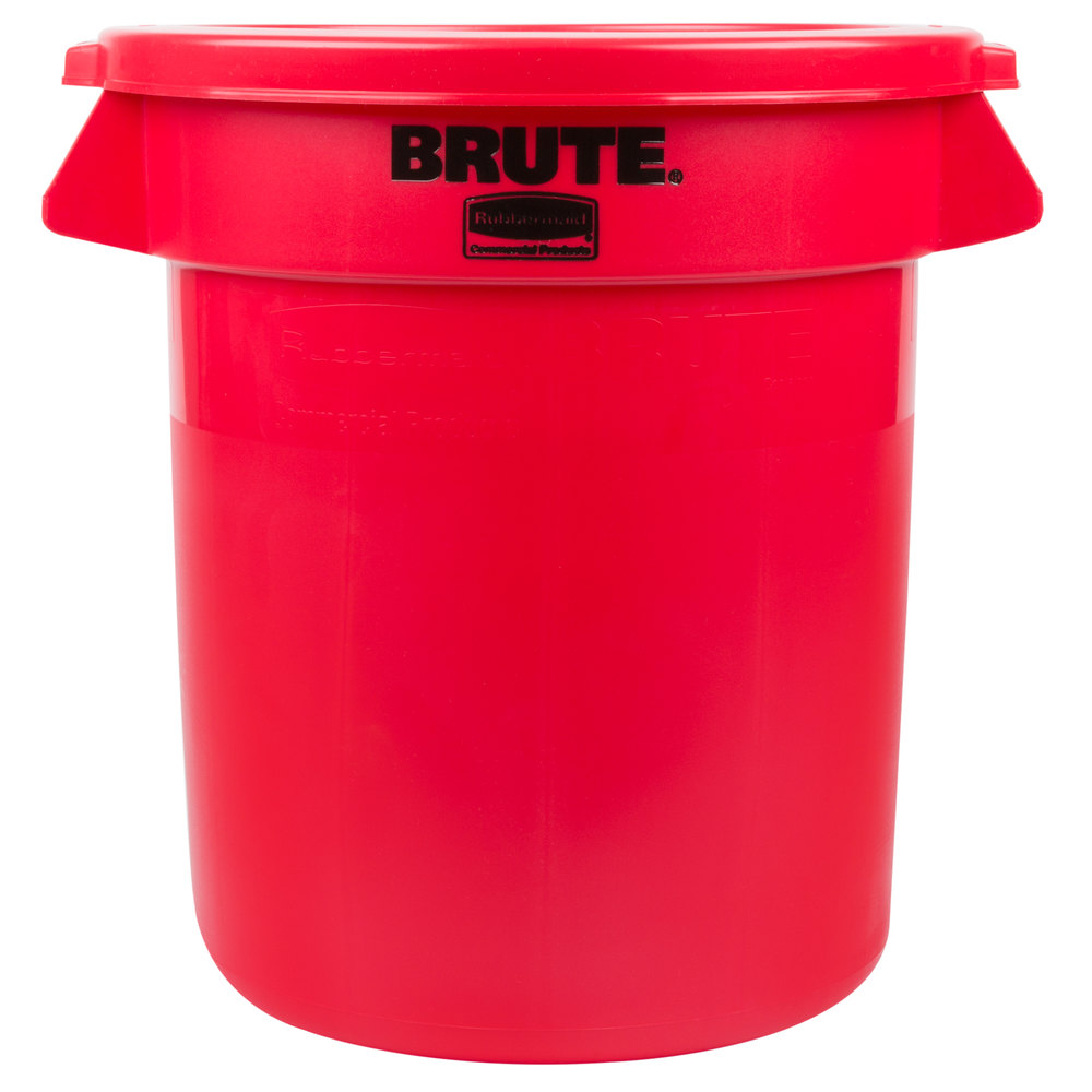 rubbermaid brute 10 gallon red trash can and lid. Black Bedroom Furniture Sets. Home Design Ideas