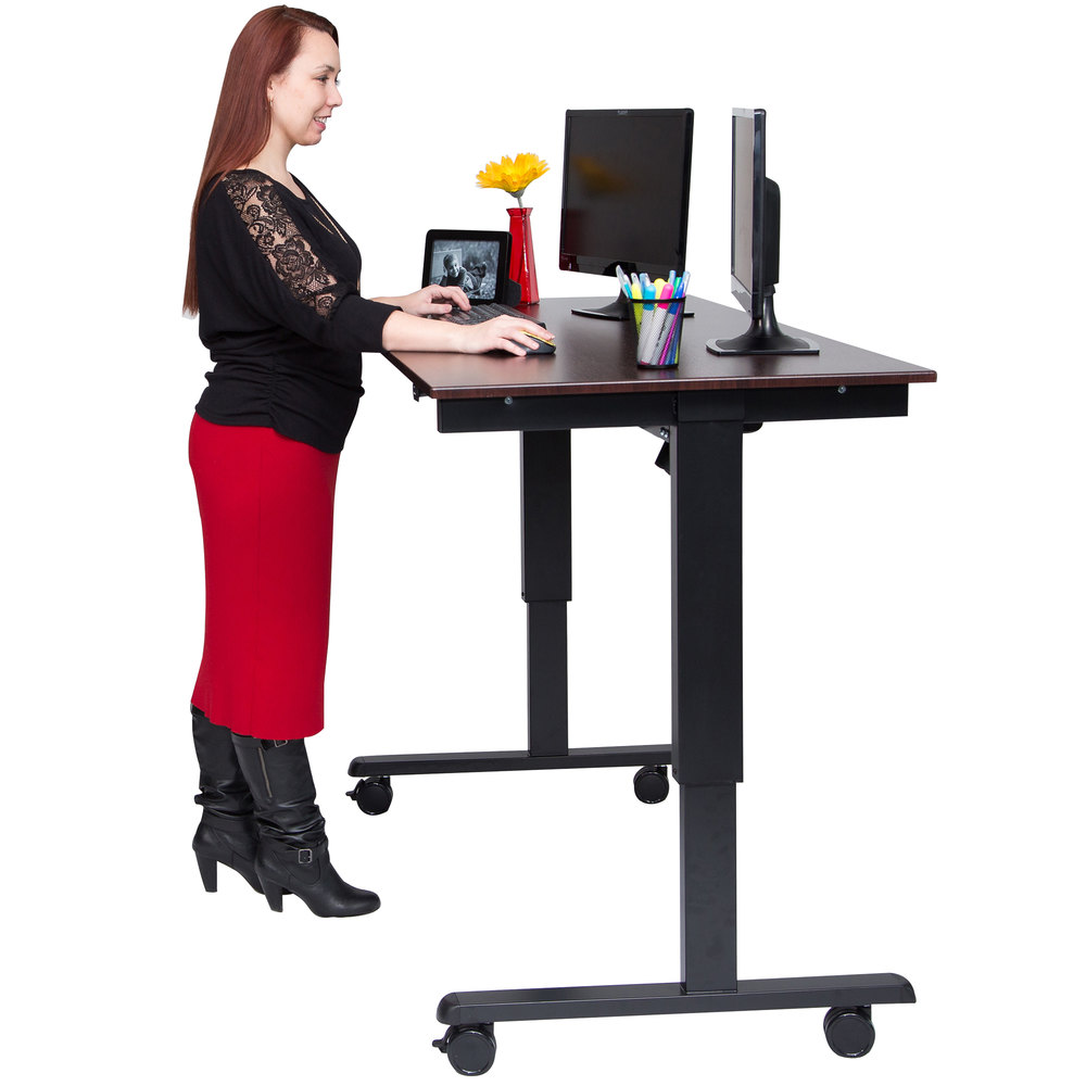 Luxor H Wilson Stande 60 Bk Dw Electric Stand Up Desk