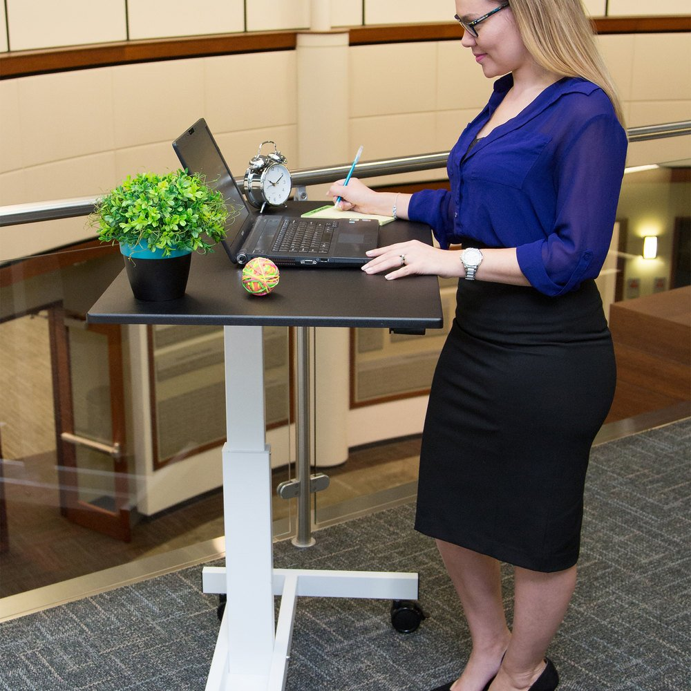 Luxor Standup Sc40 Wb Adjustable Standing Desk With White