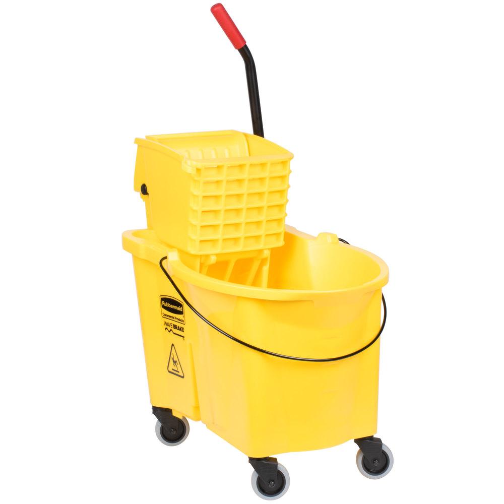 Rubbermaid Fg618688yel Wavebrake 174 44 Qt Yellow Mop Bucket