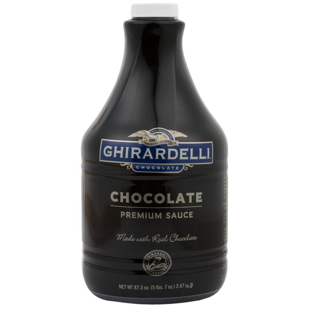 Ghirardelli 64 oz. Black Label Chocolate Flavoring Sauce