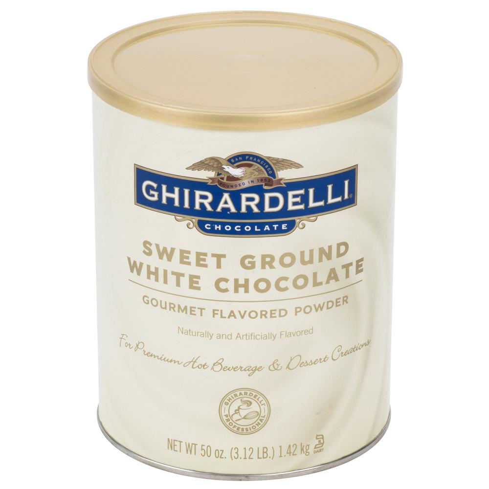 Ghirardelli white chocolate powder ingredients