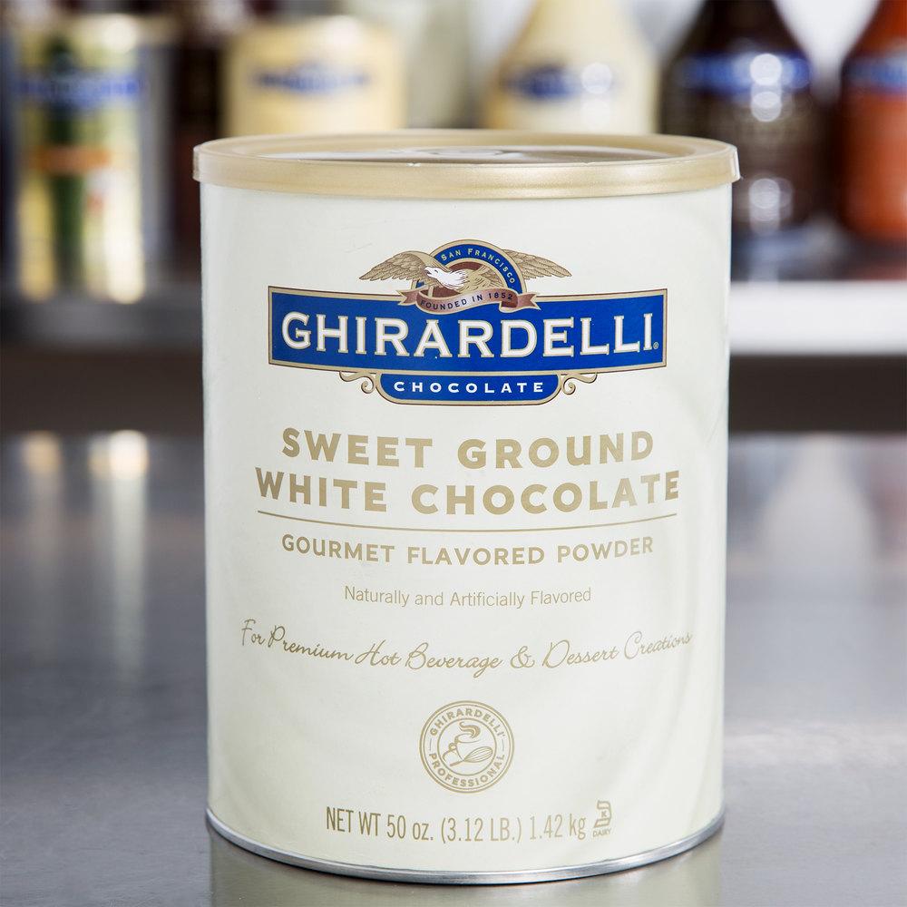 Ghirardelli 3.12 lb. Sweet Ground White Chocolate Flavored Powder