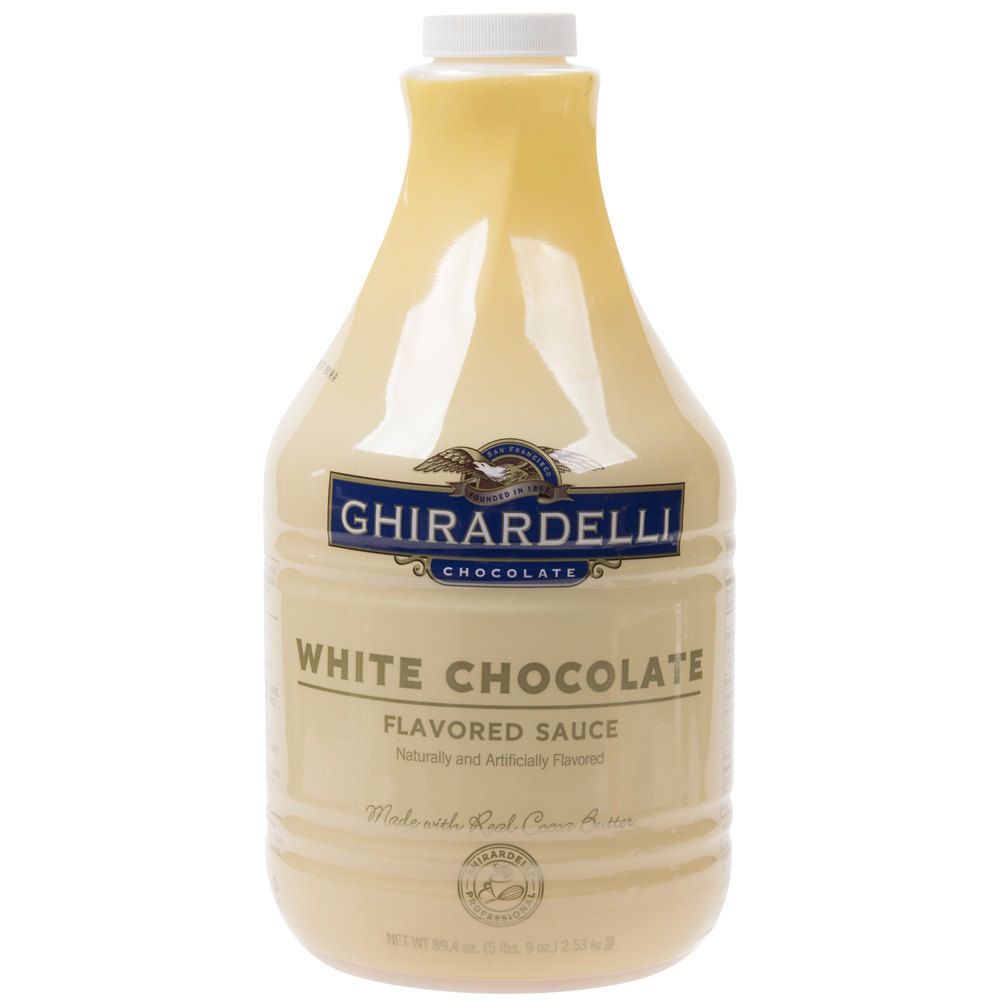 Ghirardelli 64 oz. White Chocolate Flavoring Sauce
