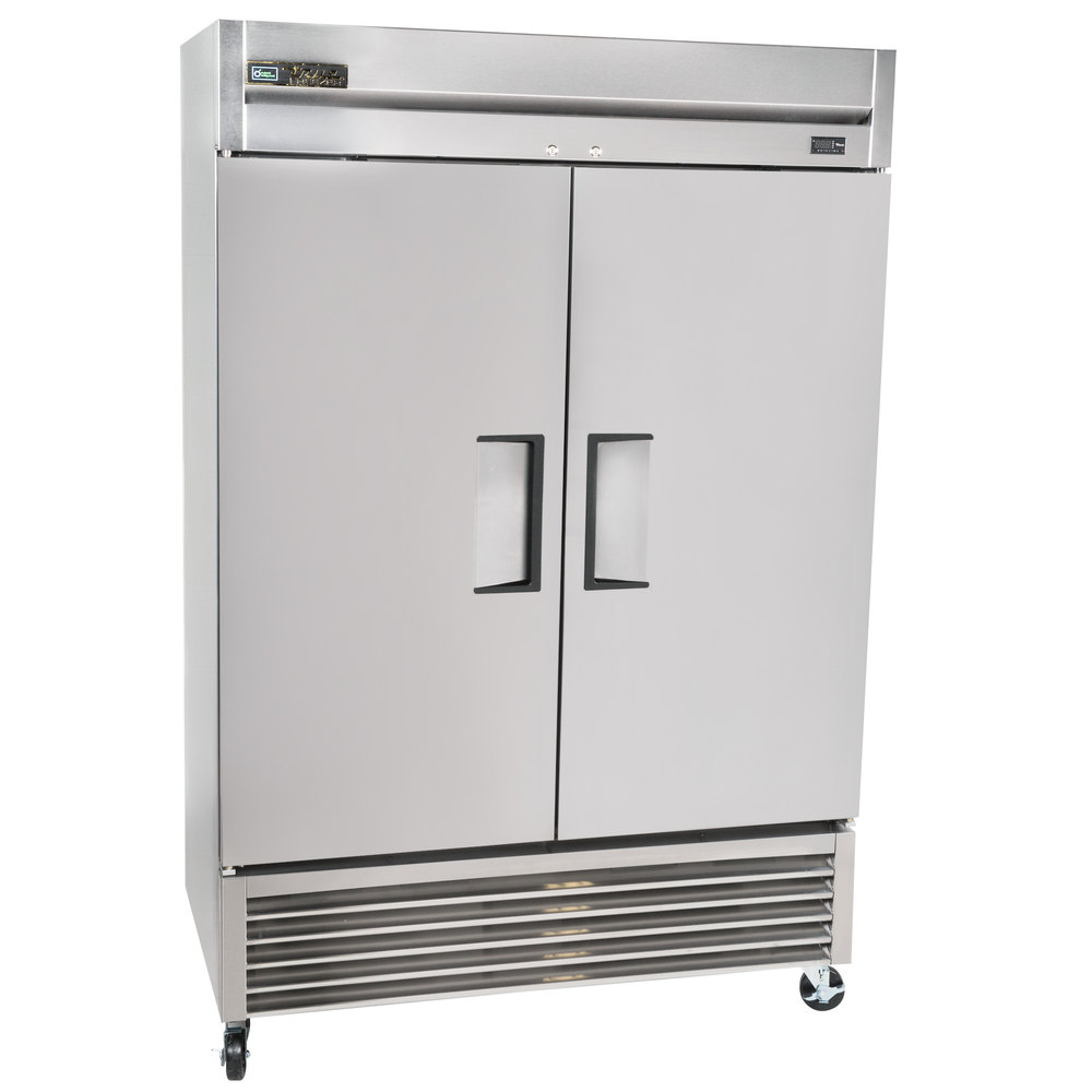 true t 49 hc 55 two section solid door reach in refrigerator main picture · image preview