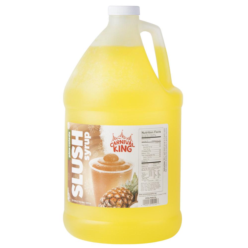Carnival King 1 Gallon Pina Colada Slushy Syrup