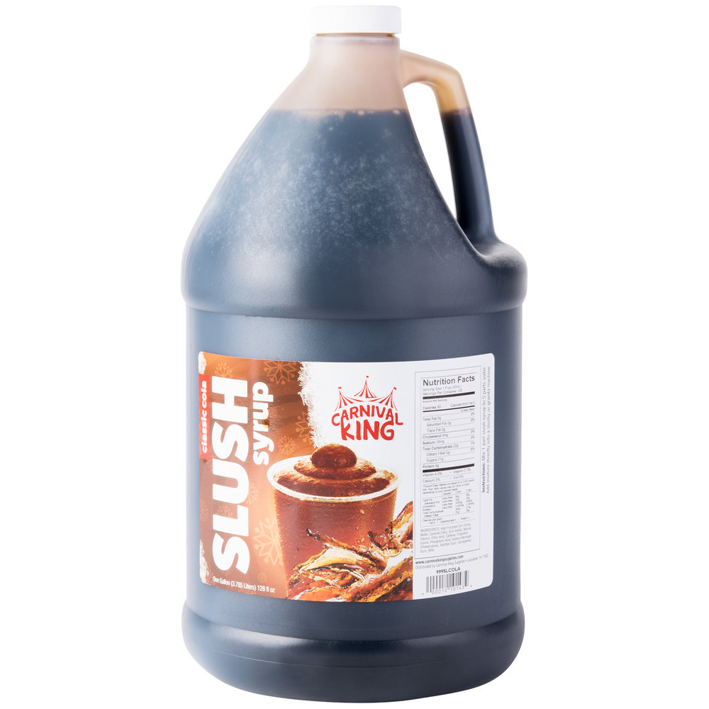 Carnival King 1 Gallon Cola Slushy Syrup - 4/Case