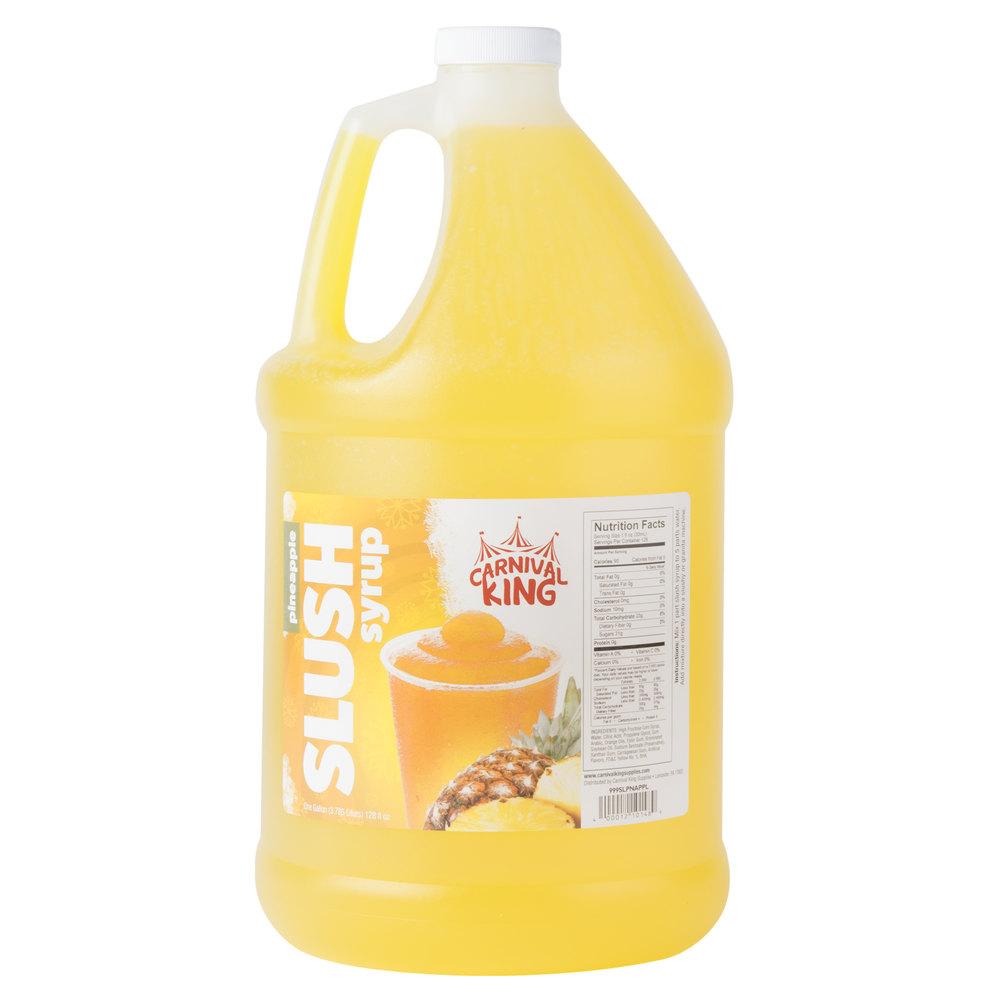 Carnival King 1 Gallon Pineapple Slushy Syrup - 4/Case