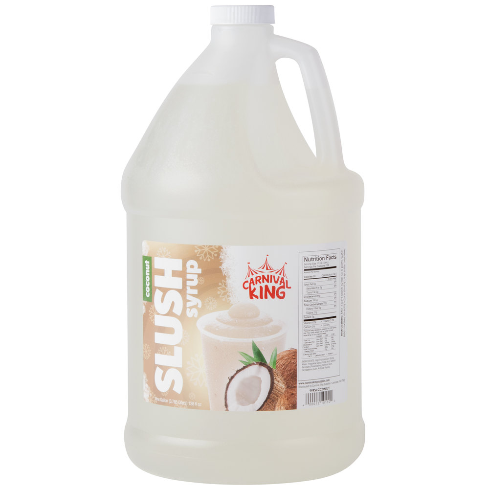 Carnival King 1 Gallon Coconut Slushy Syrup - 4/Case
