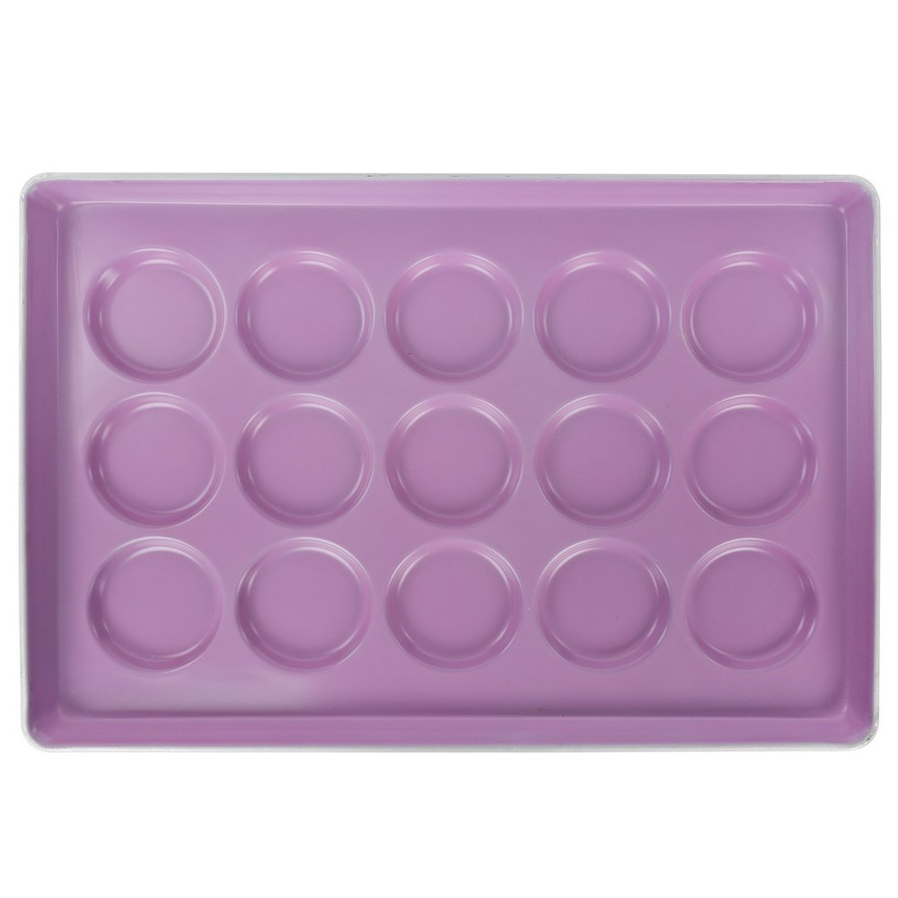 Purple colored muffin pan