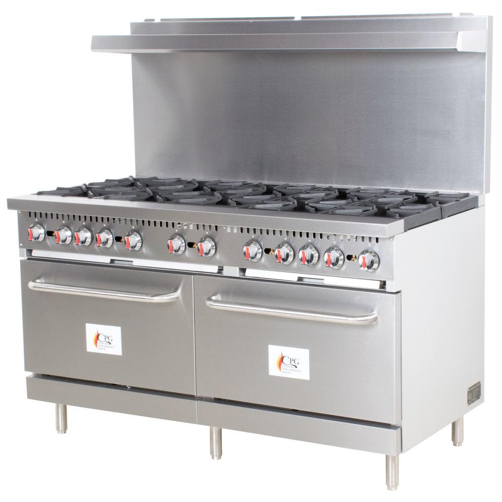 Cooking Performance Group S60-L Liquid Propane 10 Burner 60\