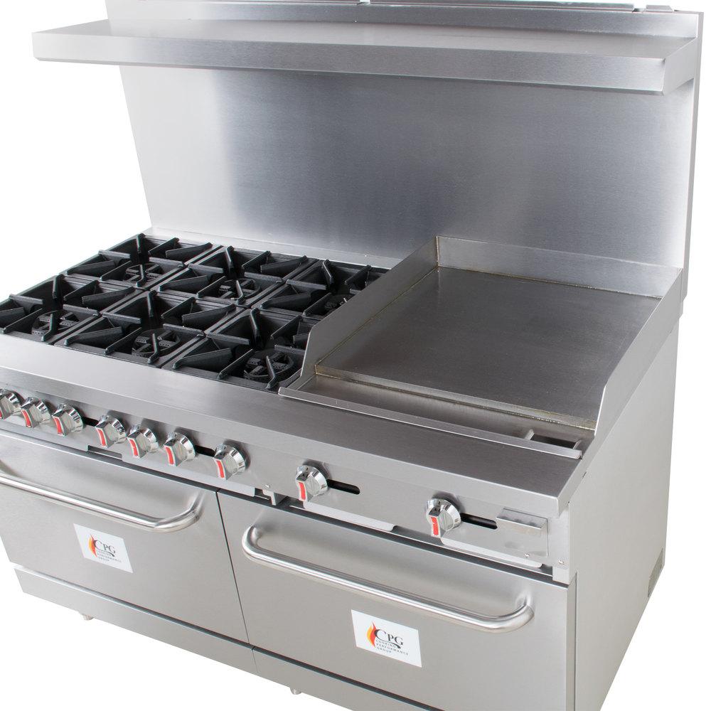 Cooking Performance Group S60-G24-L Liquid Propane 6 Burner 60 ...