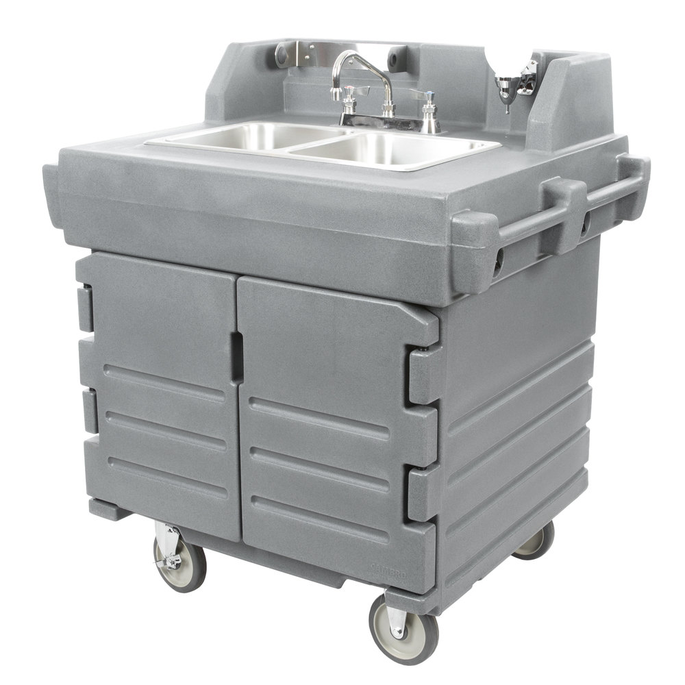 Cambro Ksc402191 Granite Gray Camkiosk Portable Self